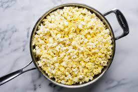 saucepan containing popcorn